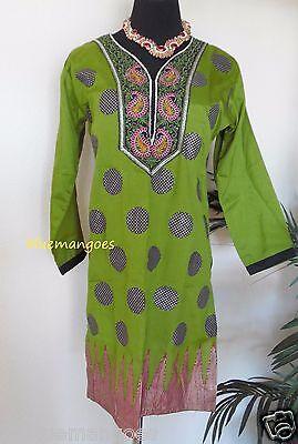 - Designer Indian Bollywood kurta kurti  ethnic top  women's Pakistani tunic silk