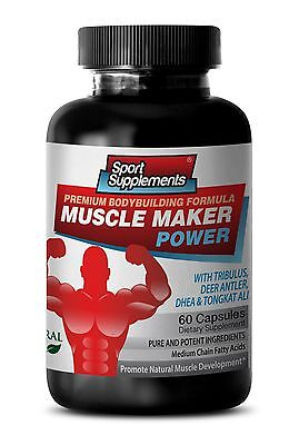 Deer Antler Muscle Maker Power Testostene Sexual Male Libido Fat Burner Pills 1B