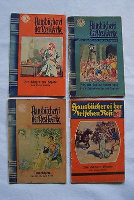 4 Hefte - Hausbücherei der Resi  Werke, 20er/30erJ