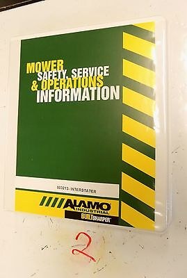 Alamo Interstater Mower Flail Operators Parts Manual 803213