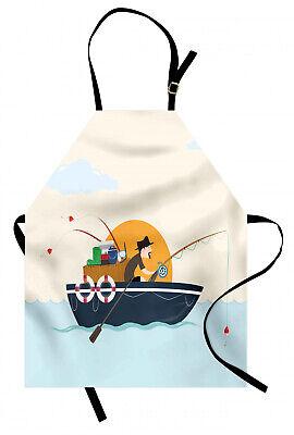 Barco de la vendimia Delantal de Cocina Fisher hombre Hobby