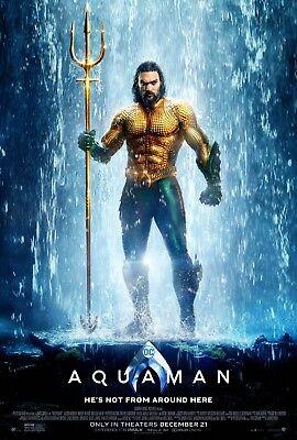Aquaman movie poster  - 11 x 17 inches - Jason Momoa (B)
