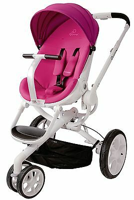 Quinny Moodd Auto Unfold Single Baby Stroller Pink Passion Mood NEW