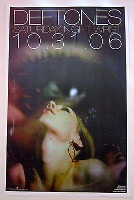 Deftones *Saturday Night Wrist* Original 2006 Promo Poster Diamond Eyes *RARE*