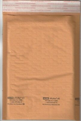 50 #0 Jiffy ULINE Jiffylite 6x10 Bubble Mailers S-1285 by Sealed Air