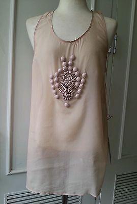 1.5K Stella McCartney mauve nude pink tank top dress-y blouse tunic silk S-M