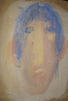 Sybil Gibson folk art painting  Outsider -Portrait #4    10X14