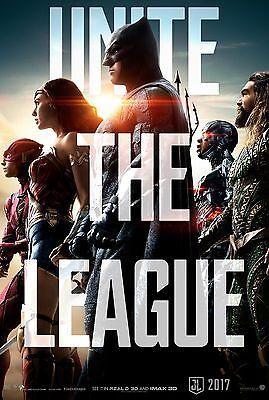 Justice League Movie Poster  24X36    Gal Gadot  Wonder Woman  Jason Momoa  V8