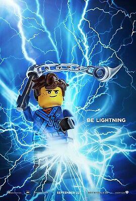 The Lego Ninjago Movie Poster (24x36) - Be Lightning, Blue Ninja, Jay - The Blue Ninjago