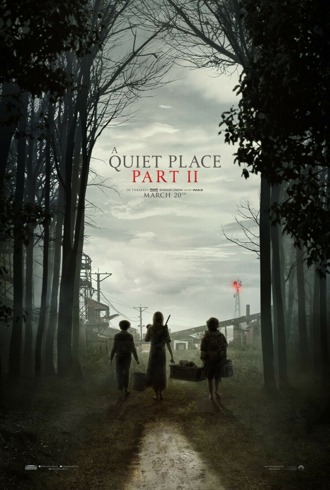 """A Quiet Place Part II  Movie Silk Fabric Poster 11""""x17"""" 24""""x"""