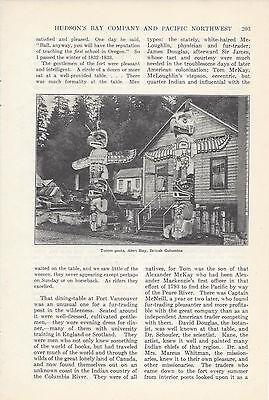 1920  Hudson Bay Company Pacific Northwest Vintage Magazine Article