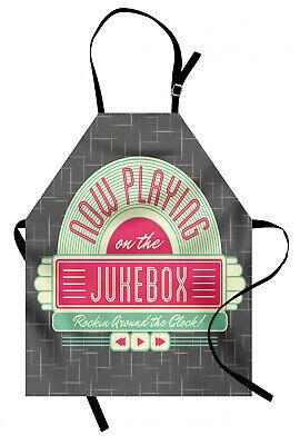 Tocadiscos tragamonedas Delantal de Cocina Retro años 50 caja de música