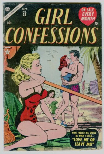 GIRL CONFESSIONS #28 Classic Hartley swimsuit cover.