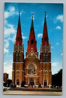 Tulsa Oklahoma OK Holy Family Cathedral Catholic Church Postcard 1950s