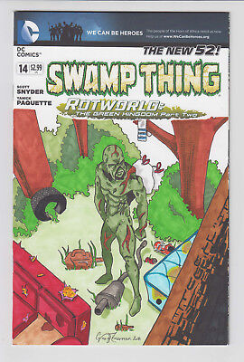 Swamp Thing #14 Blank Variant Original Art w/ COA VF+