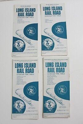 Vintage Lot of 4 1965 Long Island Rail Road LIRR Timetables Long Beach Flushing