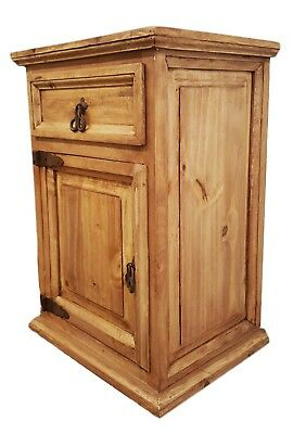 Traditional Rustic Nightstand with 1 Door and 1 Drawer Left - 1 Drawer Traditional Nightstand