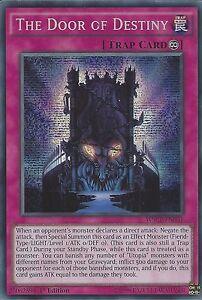 Yu gi oh card the door of destiny prismatic secret rare for Door of destinies