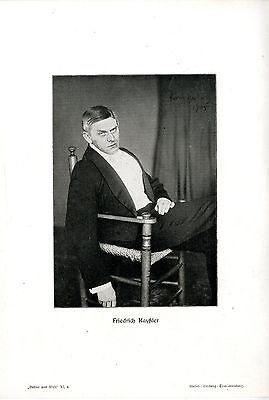 Friedrich Kayßler Der deutsche Schauspieler und Komponist Photo- Kunstdruck 1909