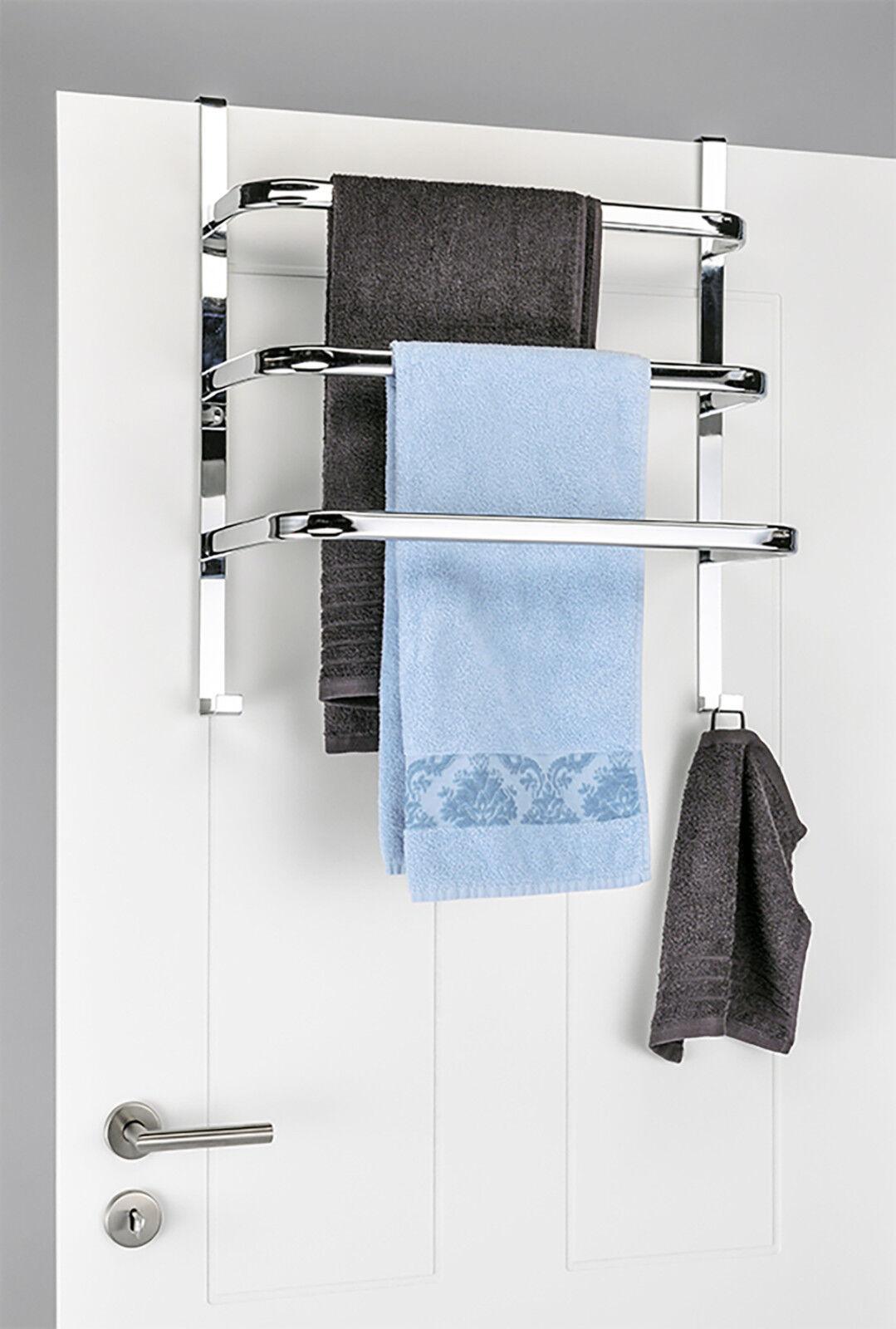 Tür - Handtuchhalter, verchromt Badezimmer Schlafzimmer trocknen aufhängen