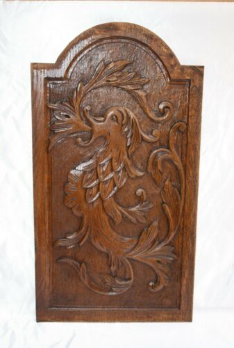 "MAGNIFICENT 19C FRENCH HAND CARVED WOODEN PLAQUE ""MUST SEE"""