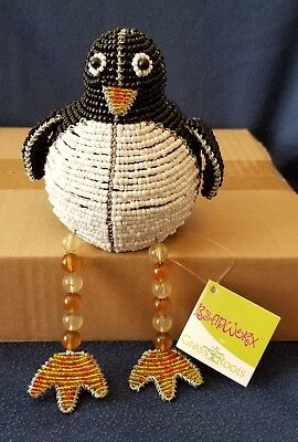 (Penguin Shelf Sitter * Beadworx by Grass Roots Creations * New with Tags)