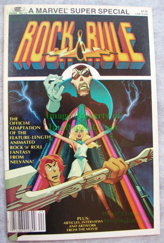 Rock & Rule Comic with Iggy Pop, Cheap Trick, Lou Reed, Debbie Harry VERY NICE!