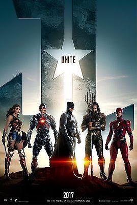 Justice League Movie Poster  24X36    Gal Gadot  Jason Momoa  Ezra Miller V1