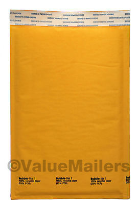 #1 7.25 x12 Kraft Bubble Lite Mailers DVD Padded Envelopes Bags 25, 100 to 2000 ()