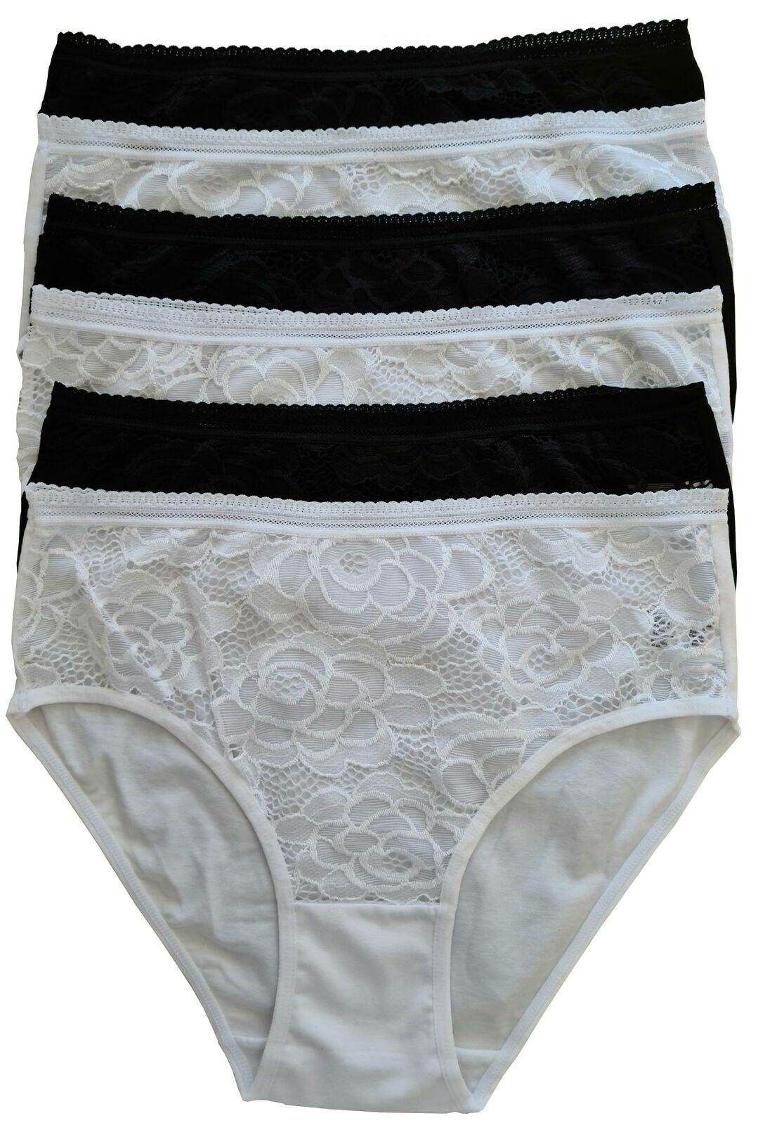 Panty Set Damen Spitze Hipster 6er Panties Pack Slips Baumwolle Unterhose sexy