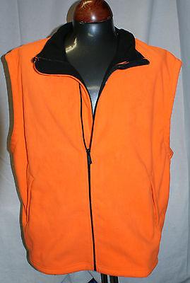 Outfitters Blaze Orange Bonded Safety Vest Large Bird Deer Hunting Hiking 1A3