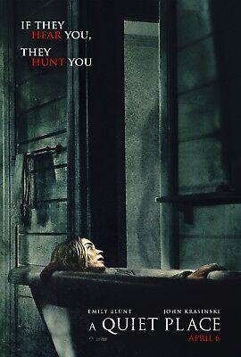 A Quiet Place Movie Poster  - Emily Blunt, John Krasinski