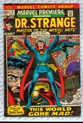 Marvel Premiere #3 (1972) VG (4.0) ~ Dr. Strange ~ Stan Lee ~ Barry Smith