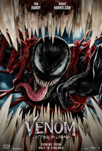 Venom Let There Be Carnage movie poster (a)  - 11 x 17 inches - Tom Hardy