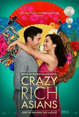 Crazy Rich Asians  Original D S Rolled Movie Poster  27 X 40  Constance Wu  2018