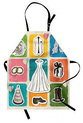 Boda Delantal de Cocina Cartel de la boda del tema