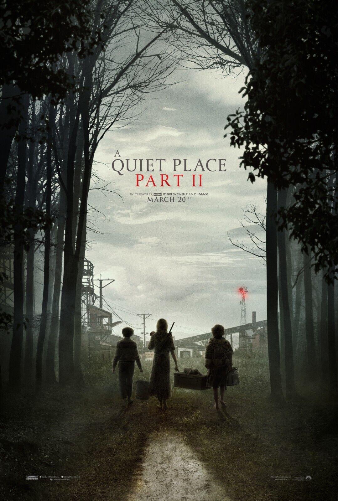 A Quiet Place Part II Movie Poster  - Emily Blunt, Noah Jupe