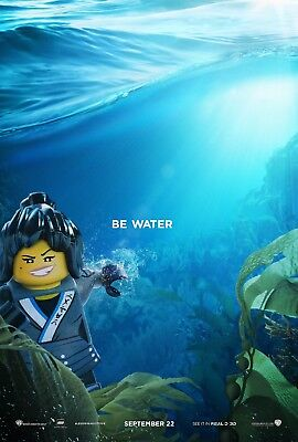 The Lego Ninjago Movie Poster (24x36) - Be Water, Blue Ninja, Nya, Lloyd - The Blue Ninjago