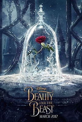 BEAUTY AND THE BEAST RED ROSE EMMA WATSON 11x17 MINI MOVIE POSTER