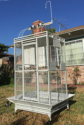 Large Bird Parrot Open PlayTop Cage Cockatiel Macaw Conure Aviary Finch 150