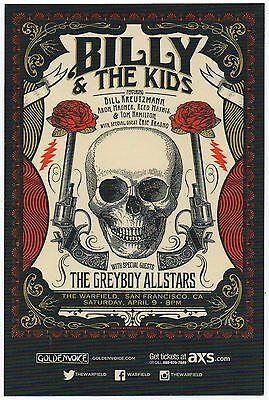 BILLY & THE KIDS (GRATEFUL DEAD) CONCERT HANDBILL JUSTIN HELTON STATUS SERIGRAPH