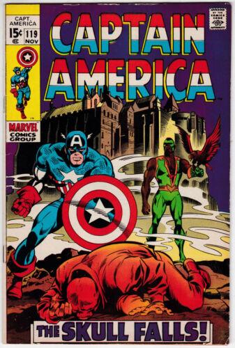 Captain America #119 Fine Minus 5.5 Falcon Red Skull Gene Colan Art 1969