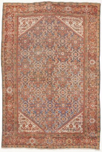 Genuine Hand knotted authentic antique rug. 8