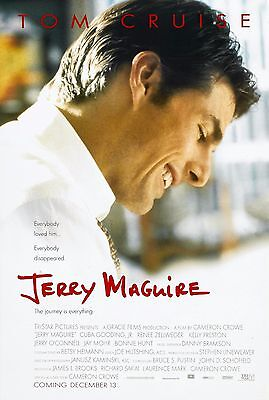 JERRY MAGUIRE (1996) ORIGINAL MOVIE POSTER  -  ROLLED  -  DOUBLE-SIDED