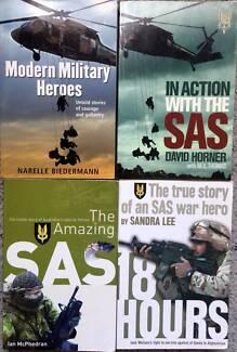x4 Military Heroes True Story Books of SAS war Heros