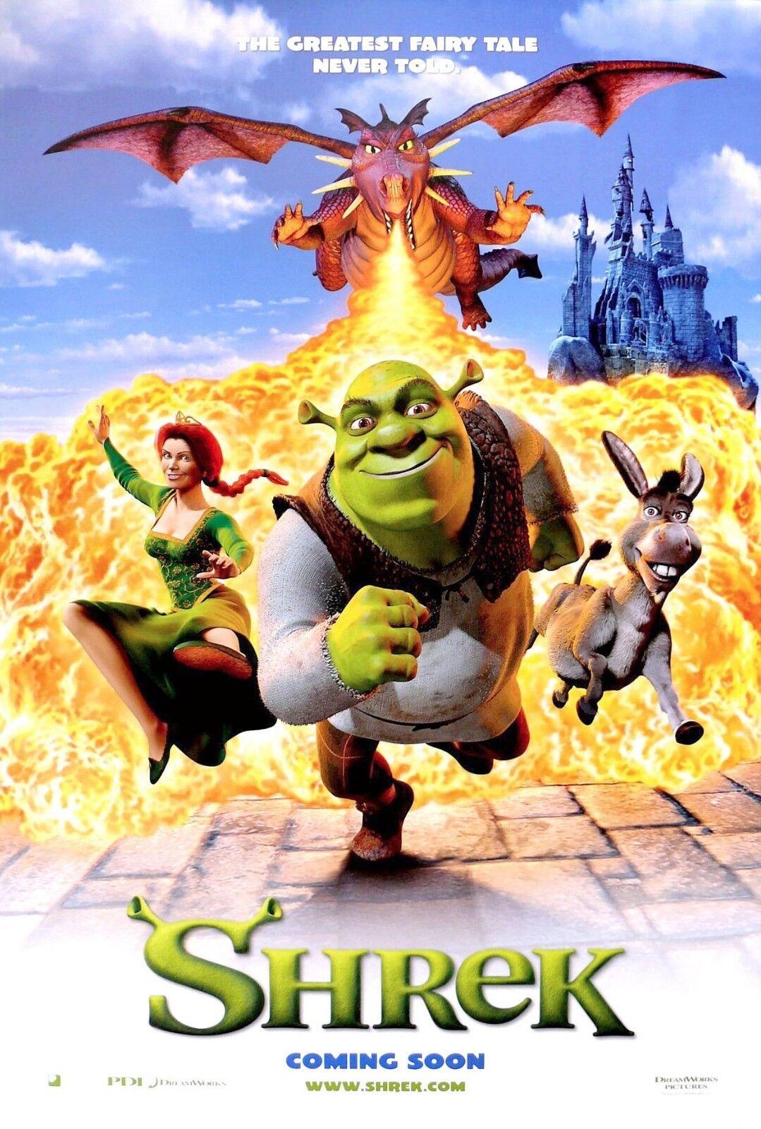 SHREK.. Modern Classic Childrens Animated Movie Poster 1 Various ...