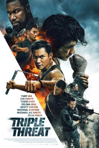 Triple Threat 2019) Tony Jaa Iko Uwais Tiger Chen Michael Jai White Movie Poster