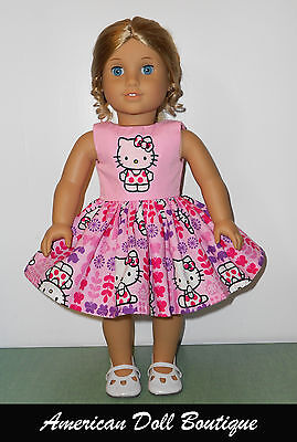 "Beautiful Hello Kitty Dress  Fits 18"" American Girl Doll Clothes on Rummage"