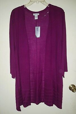 WOMENS PLUS SIZE 4X TOP NWT CARDIGAN CATHERINES  TUNIC 3/4 SLEEVES - Womens Size 4x