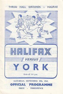 Halifax v York 1962/3 (29 Sep)